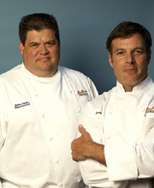 Executive Chef Robert Barker (L), and Consulting Chef Joey Altman (R), of Miss Pearl's Jam House