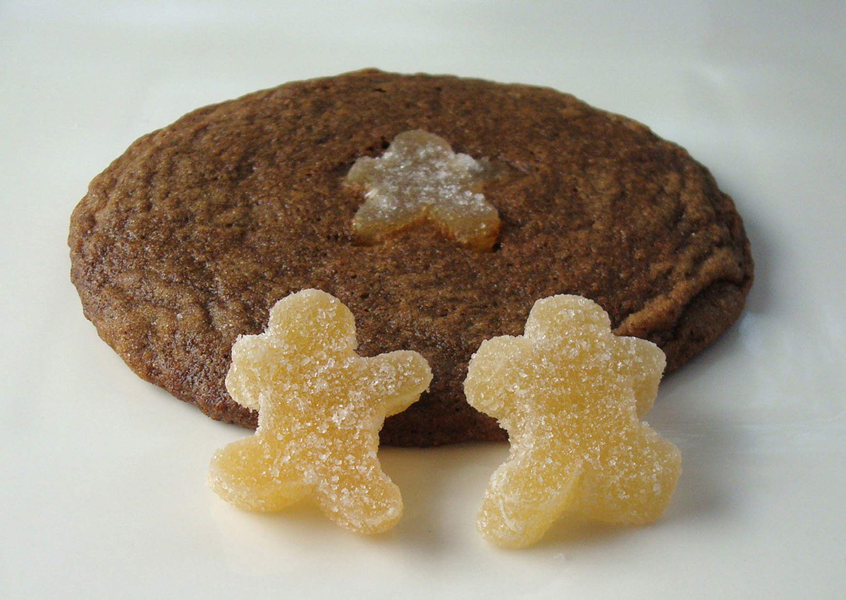 Ginger Babies play hide & seek in chewy molasses cookies. Recipe follows.