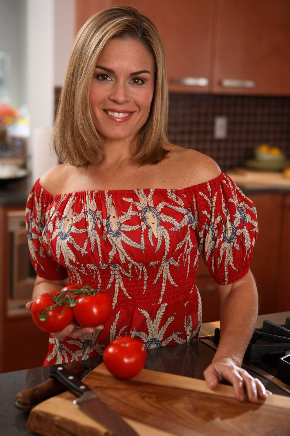 Why can't we all look this glam when we cook? (Photo courtesy of Cat Cora)