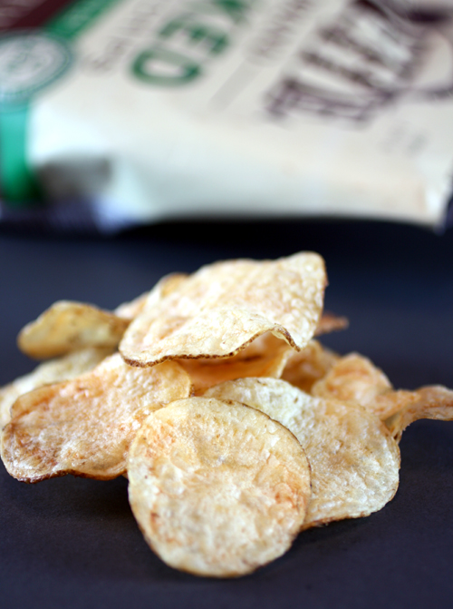 The ''before'' picture of Kettle Brand Baked Potato Chips.