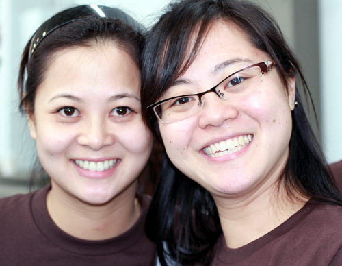 Sisters, Wendy (left) and Susan (right) Lieu, of Socola Chocolatier.