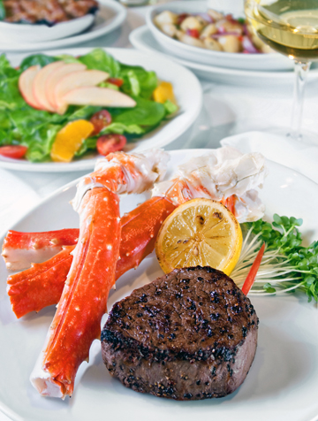 Alaskan crab summer special. (Photo courtesy of Fleming's)