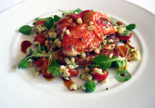 Lobster salad is a decadent way to start a Sunday. (Photo courtesy of the Village Pub)