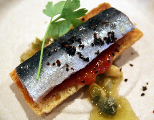Sensational sardines from Aziza.