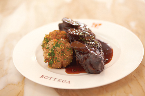 Shortribs at Bottega. (Photo courtesy of Phil Harvey)