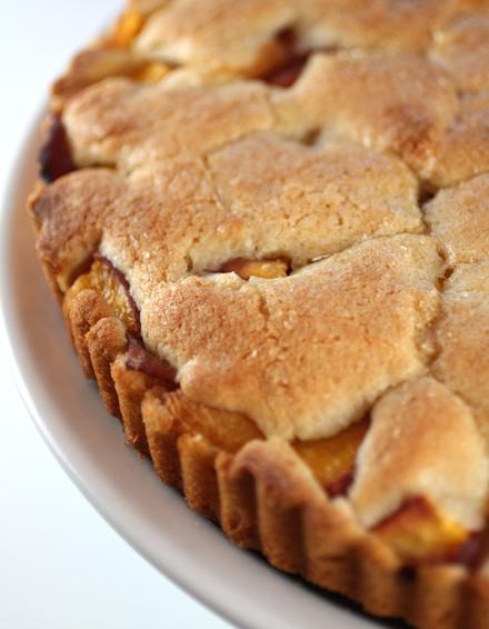 Peach ''tea cake.''