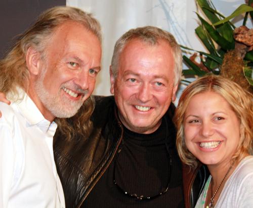 (L to R): Hubert Keller of Fleur de Lys, Roland Passot of La Folie, and Jamie Lauren of Absinthe.