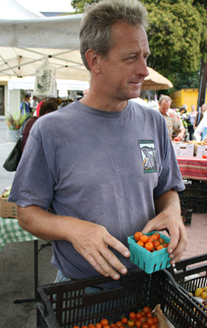Fred Hempel, geneticist turned tomato grower.