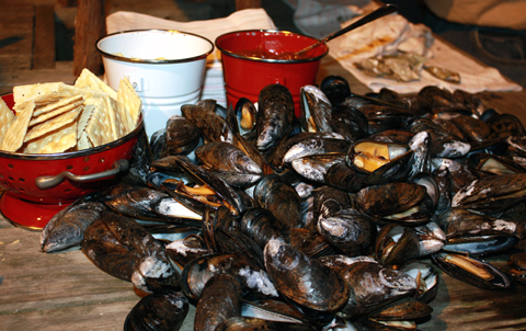 Simple, lovely mussels.
