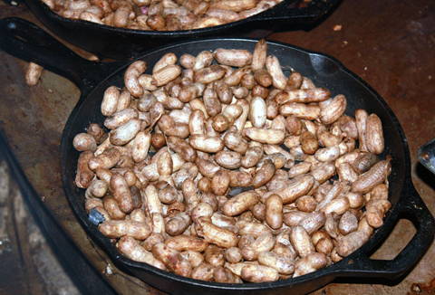 Soft, smoky, tangy peanuts cooked over the fire.
