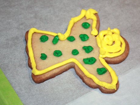 One young girl's cookie art.