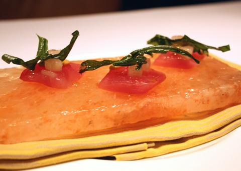 Bigeye tuna crudo.