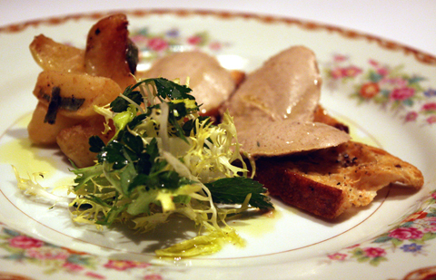 Smooth, silky duck liver pate.