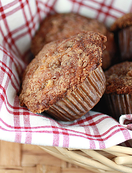 Muffins with the goodness of fresh apples.