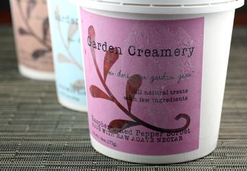 Garden Creamery sorbets.