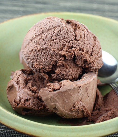 Dark chocolate sorbet. Oh my!