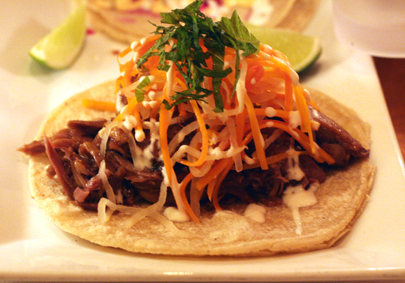 Papito's duck confit taco. Yes, indeed.