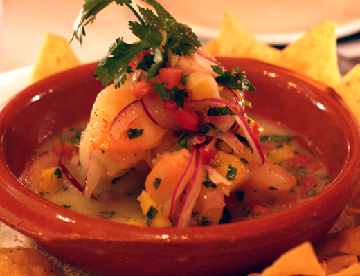 Bright and refreshing shrimp ceviche.