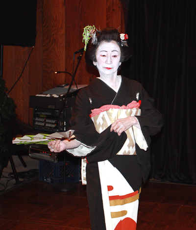 A Japanese dancer.