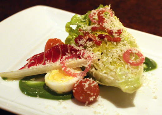 A refined take on a wedge salad.