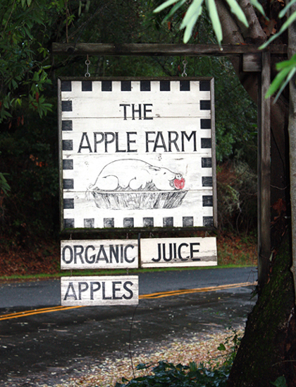 The 30-acre apple farm that the Schmitts lovingly restored.