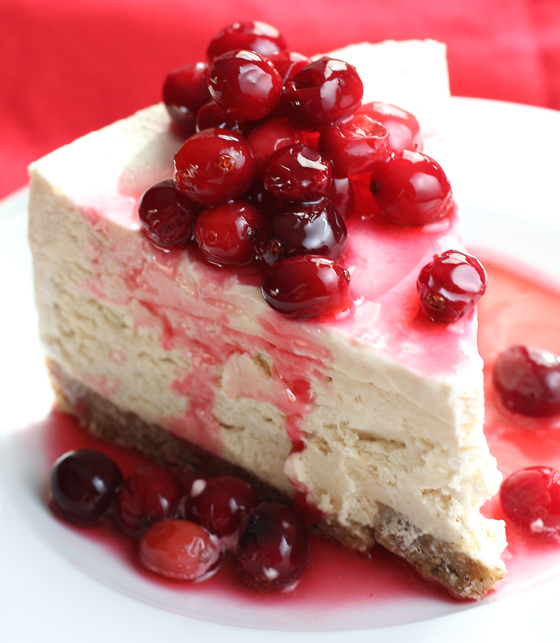 Be prepared to swoon over this frozen maple mousse pie with candied cranberries.