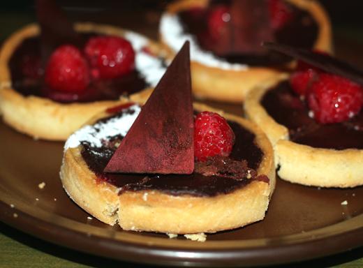 Chocolate tarts.