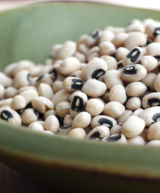 Organic dried black eyed peas for the new year.
