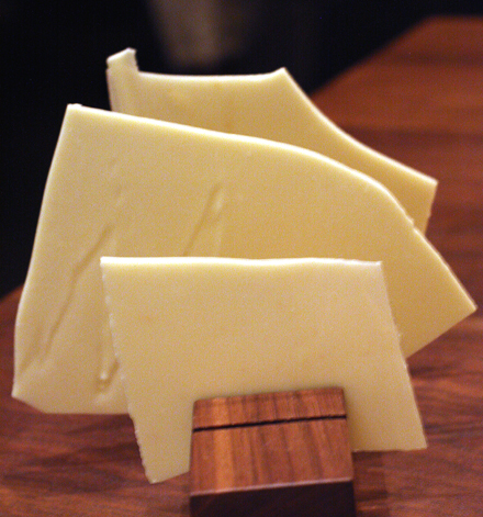 White chocolate-coated wafers.