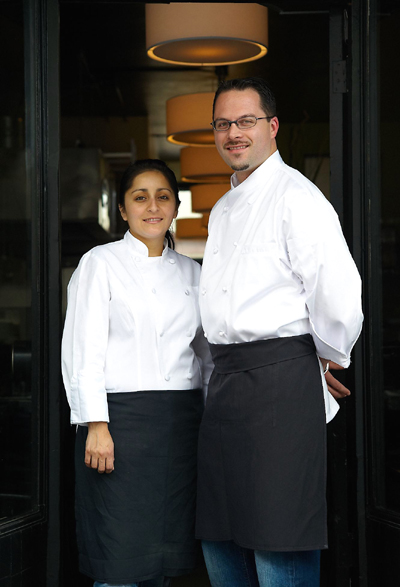 Chef-Owners Christopher and Veronica Laramie of eVe. (Photo by Nick Vasilopoulus)