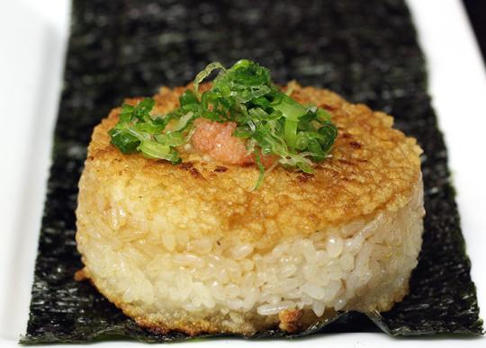 Toasty-roasty rice cake.