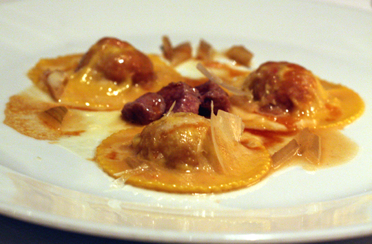 Cappellacci stuffed with lamb.