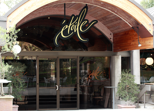 Etoile, the only fine-dining restaurant inside a winery in the Napa Valley.