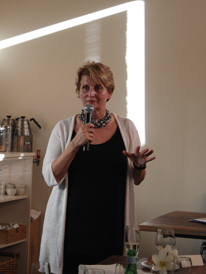 Dorothy Cann Hamilton, founder of the French Culinary Institute, welcomes guests.