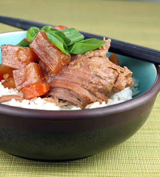 Making this tender Asian pork dish is as easy as opening up a jar. Well, almost...