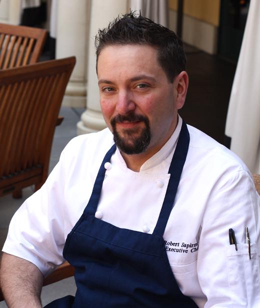 Chef Robert Sapirman on the terrace of the Hotel Valencia.