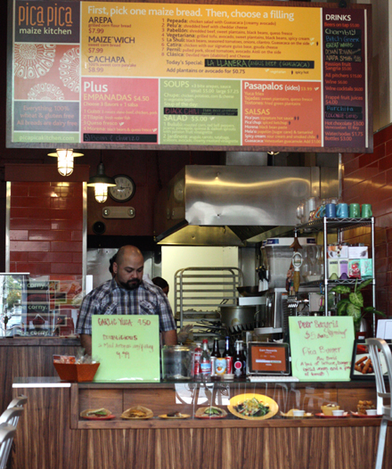 Step up to the counter to place your order.