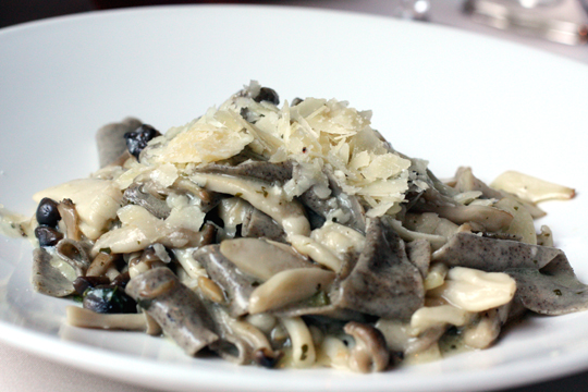 My favorite wild mushroom pasta that I never ever tire of and have already eaten three times.