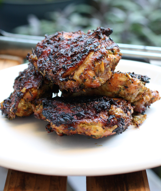 Break out the grill for Thai-style chicken fragrant with lemongrass, ginger and curry powder.