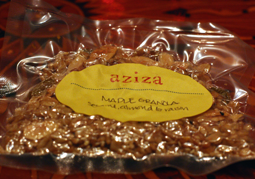 A gift of house-made granola to take home.