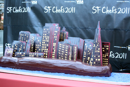 Close-up of the cake made by Baker & Banker restaurant.