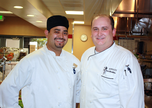 Chef Chad McWilliams and his right-hand cook.