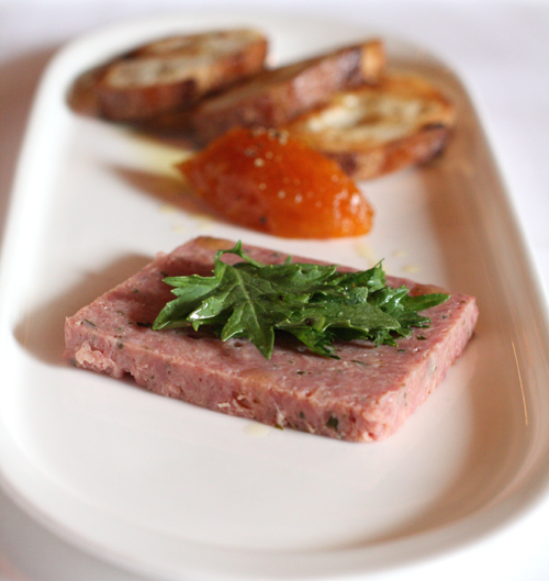 Housemade duck terrine. (Photo by Carolyn Jung)