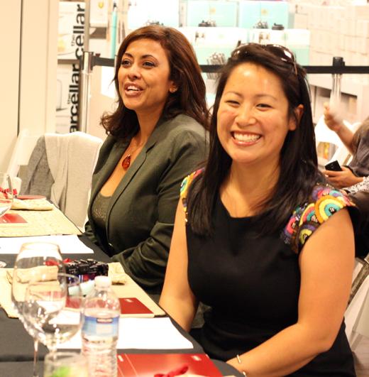 """My fellow judges: (foreground) Susannah Chen of YumSugar and (background) Alejandra Schrader, finalist on """"MasterChef.''"""