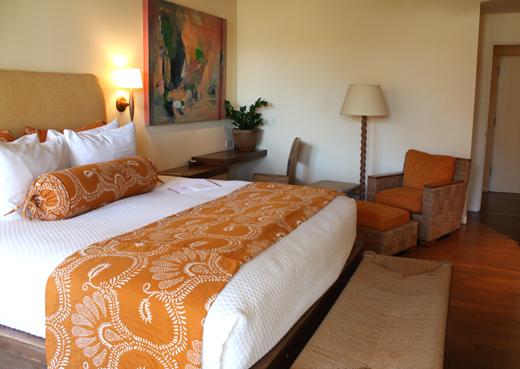 The roomy bedroom.