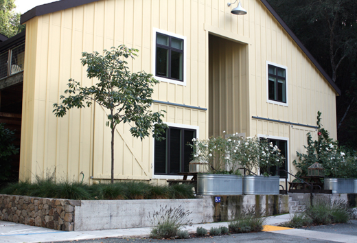Although it blends in perfectly with the 1800s property, this barn is a new structure housing gorgeous suites.