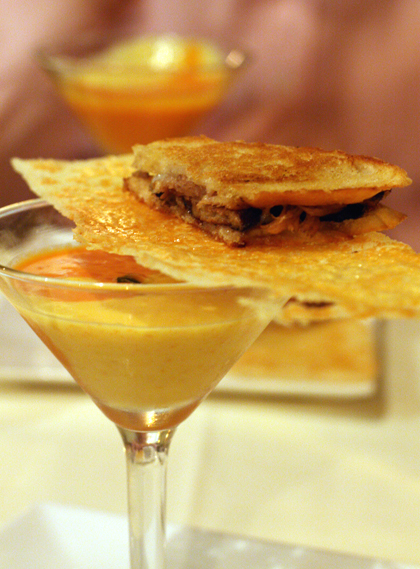 Soup and sandwich go glam at Alan Wong's.
