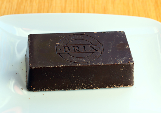 A Brix bar is literally a brick of chocolate.