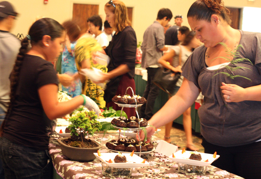 Contestants ready their dishes in the annual Kona Coffee Recipe Contest.