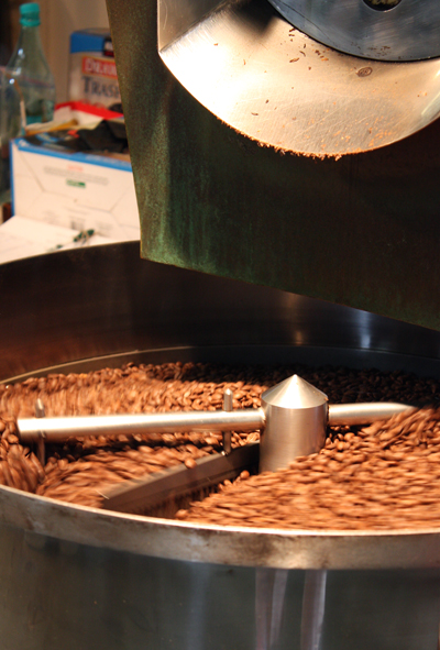 Finally, the beans are roasted.